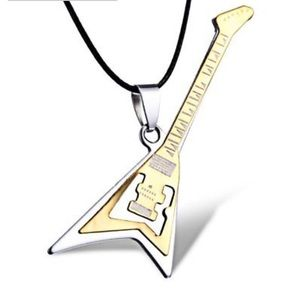 Jewelry - 2 LEFT!🎸 NEW UNISEX STEEL GUITAR LEATHER NECKLACE